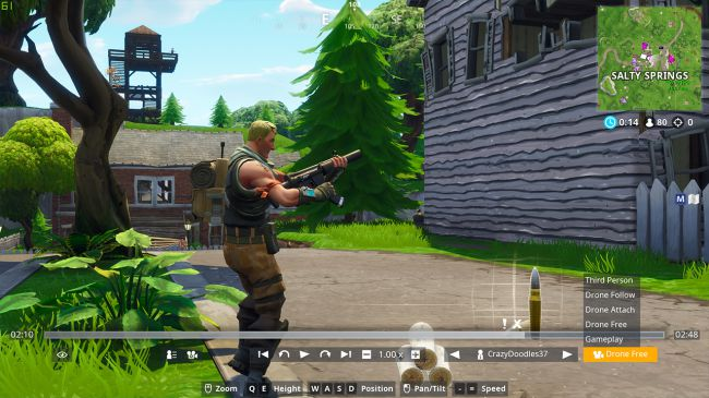 where to find fortnite camera angle in replay mode - fortnite position camera